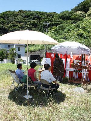 ♪♪三浦郡葉山町にて地鎮祭を執り行いました♪♪