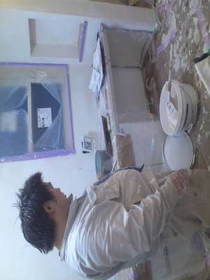 連休前のもう一働き!『横浜市保土ヶ谷区にて壁塗り指導+@