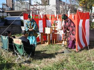 横須賀市津久井浜にて地鎮祭!