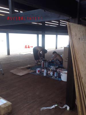 葉山町一色海岸海の家Splus建築中!PartⅢ