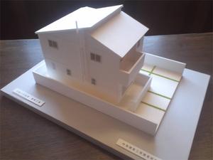葉山町長柄に建つ家|建築白模型が出来ました!
