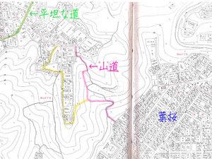 葉山町長柄(葉桜)から桜山ショートカットの山道を行く