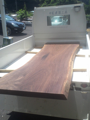 無垢の一枚板でダイニングテーブルを造作してみる☆ブラックウォルナット編PartⅢ