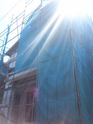 葉山の進行中建築現場に寄ってみました!