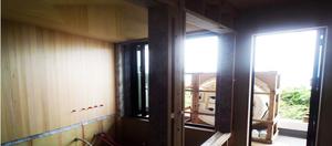 葉山町下山口|造作で造る在来浴室から見る景色