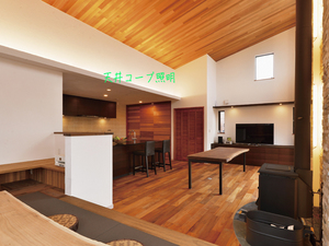 葉山町堀内ビルトインガレージの照明案を検討する