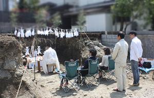 藤沢市片瀬山にて地鎮祭☆
