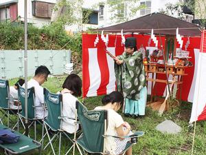 横須賀市長沢にて地鎮祭☆