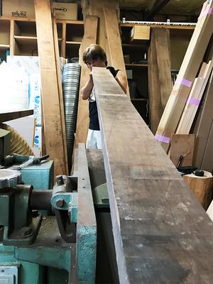 100%無垢材ウォルナットで造る木製玄関ドア Part Ⅳ|中尾建築工房の工房編☆