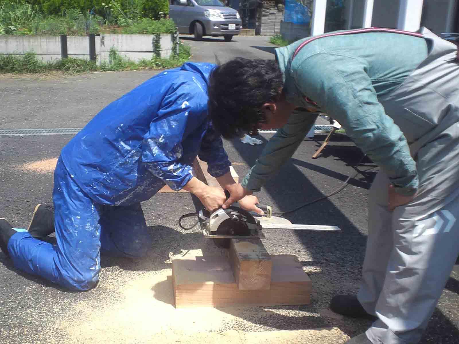 施主施工やDIYで造るカーポート&ウッドデッキ!!