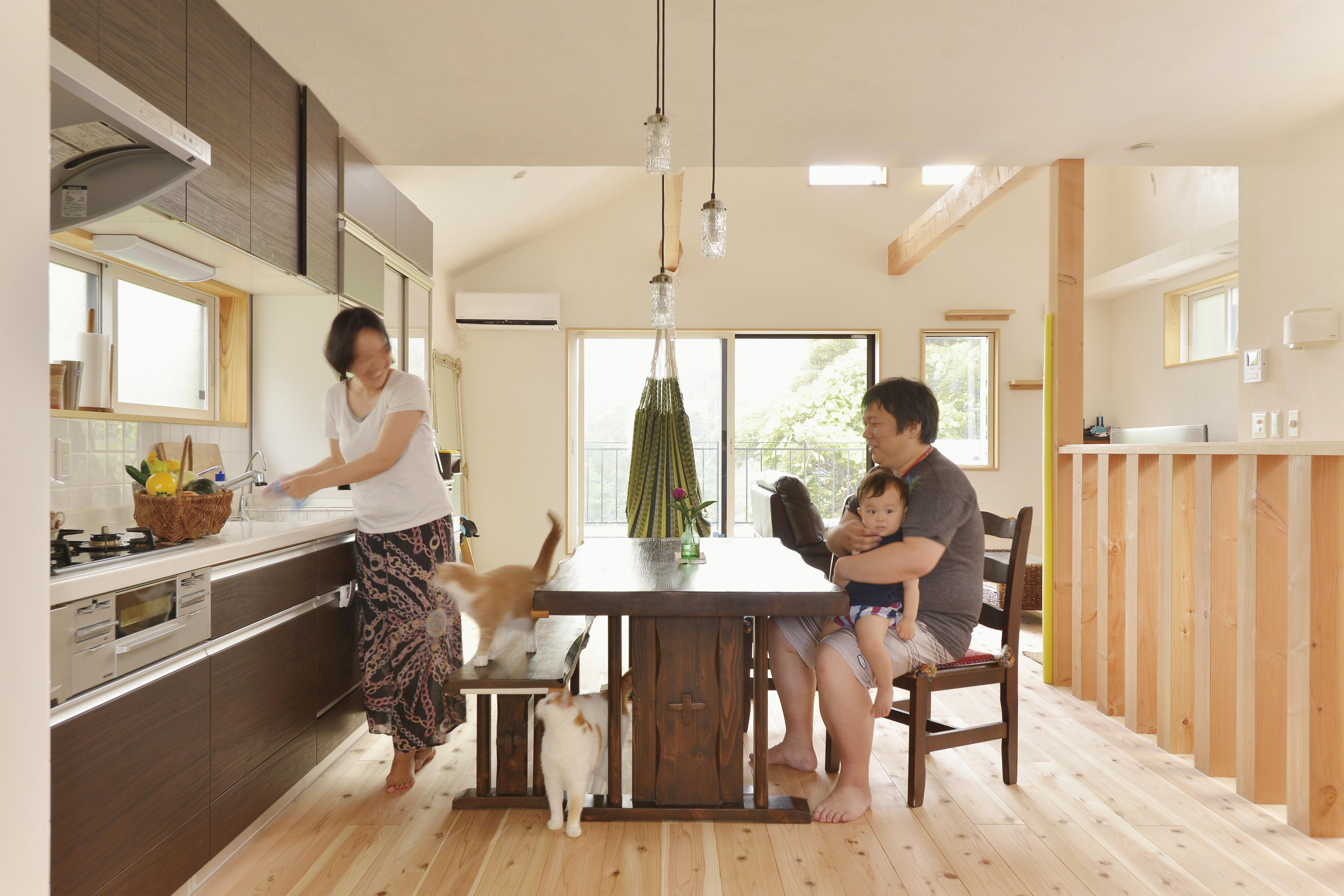 山の高台に建つ 緑-満喫出来る家
