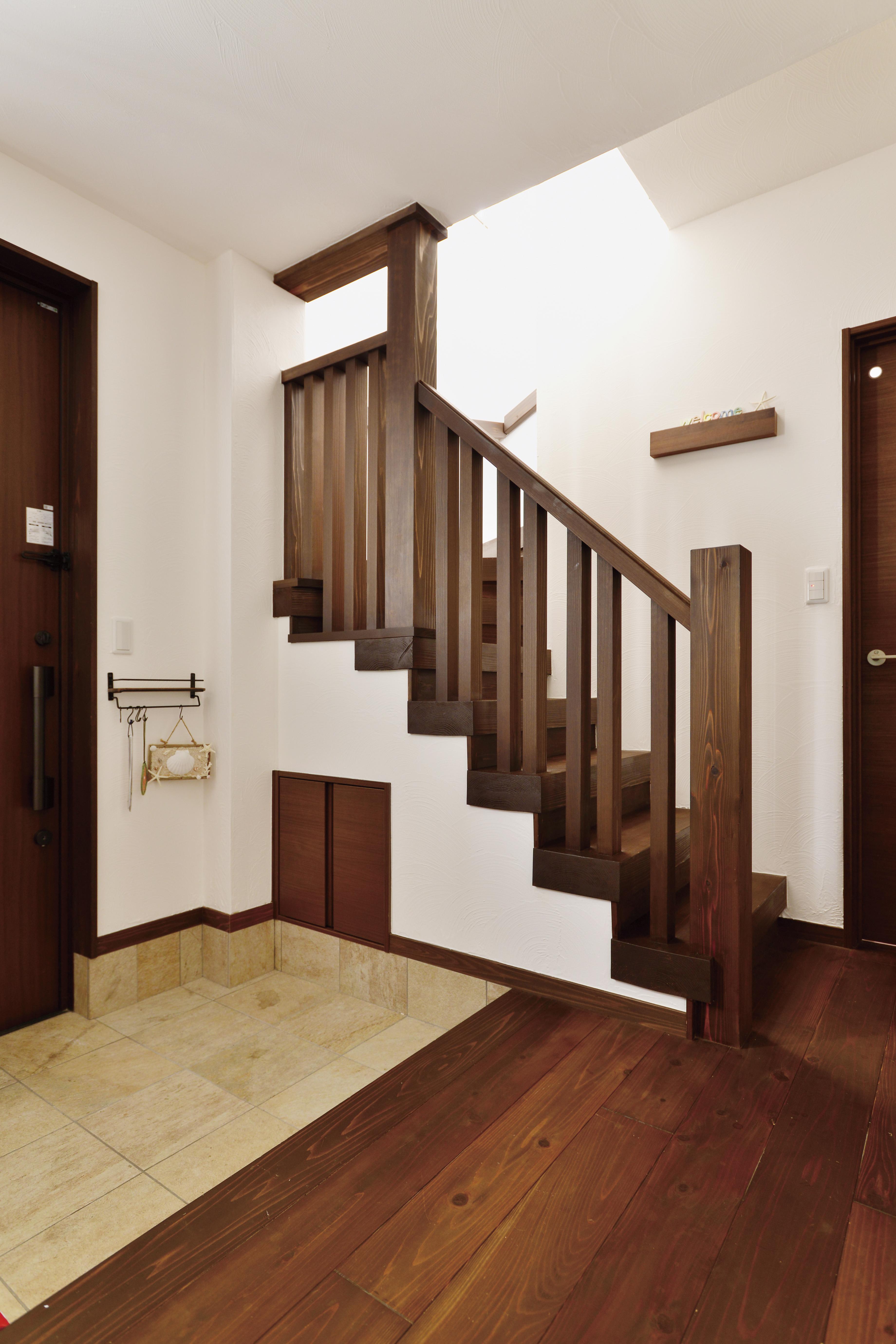 お友達の家と同じ階段