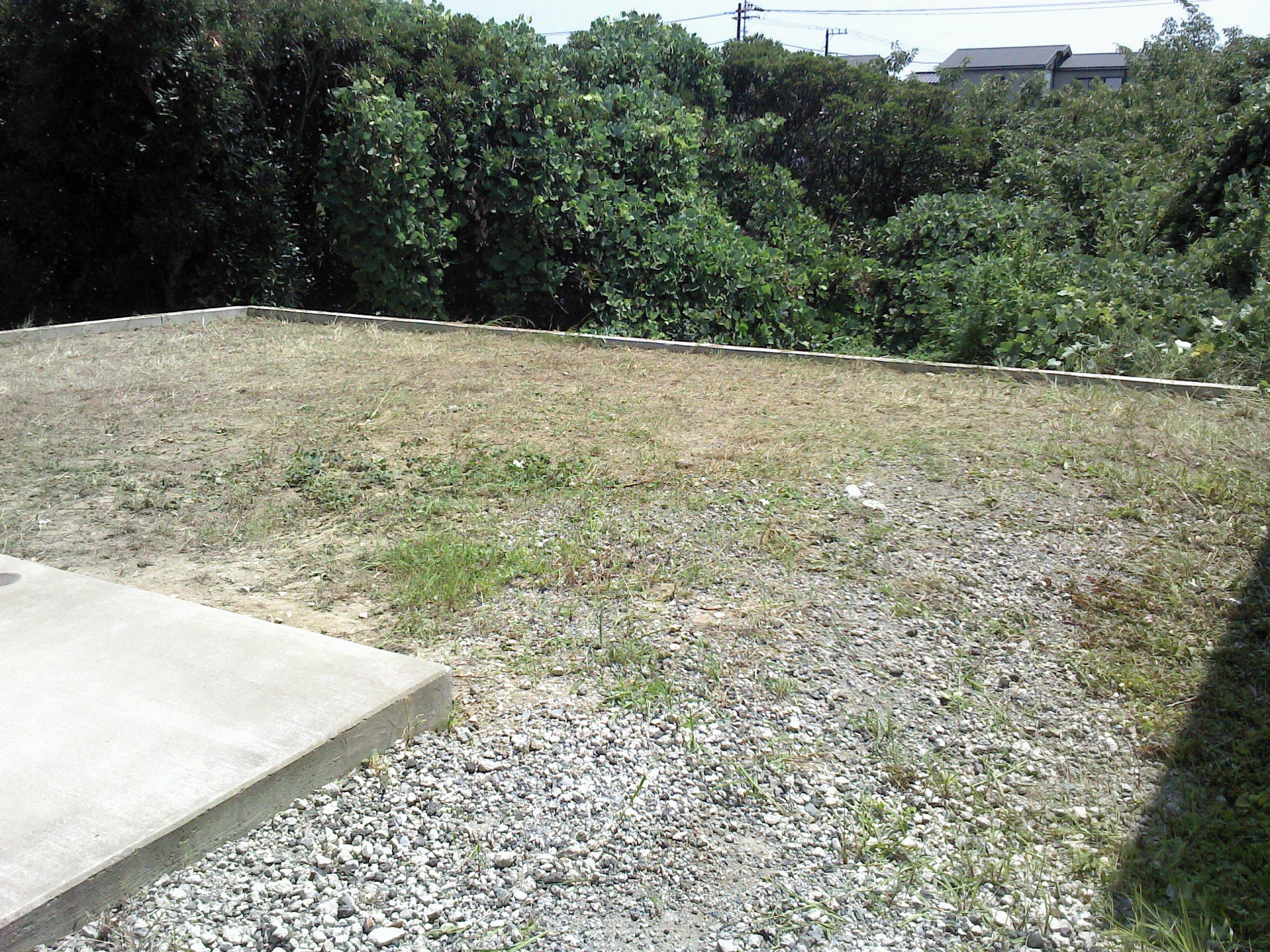 現地は宅地造成工事の範囲外の残地でした