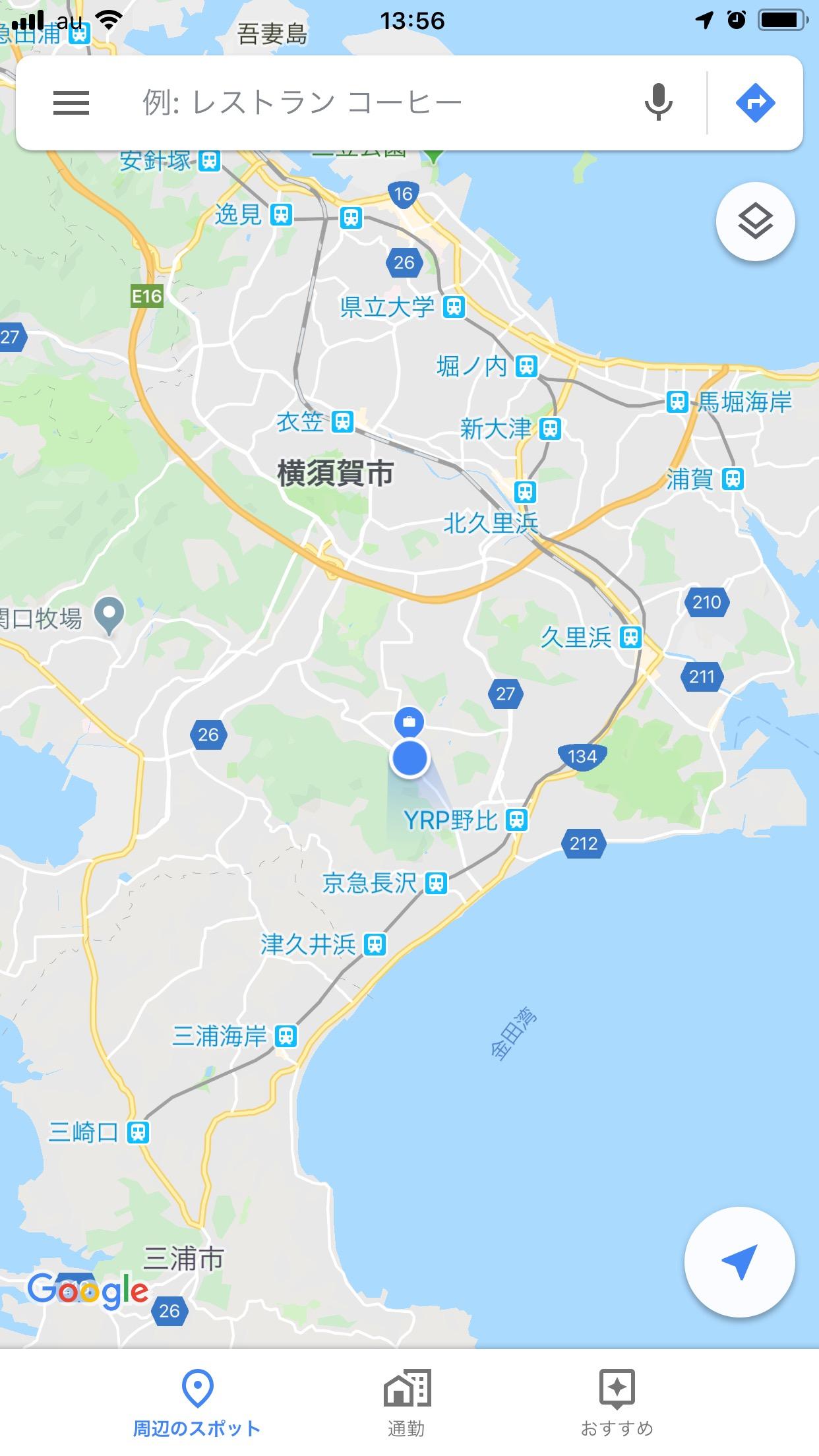 横須賀の秘境にある中尾建築工房のマップ