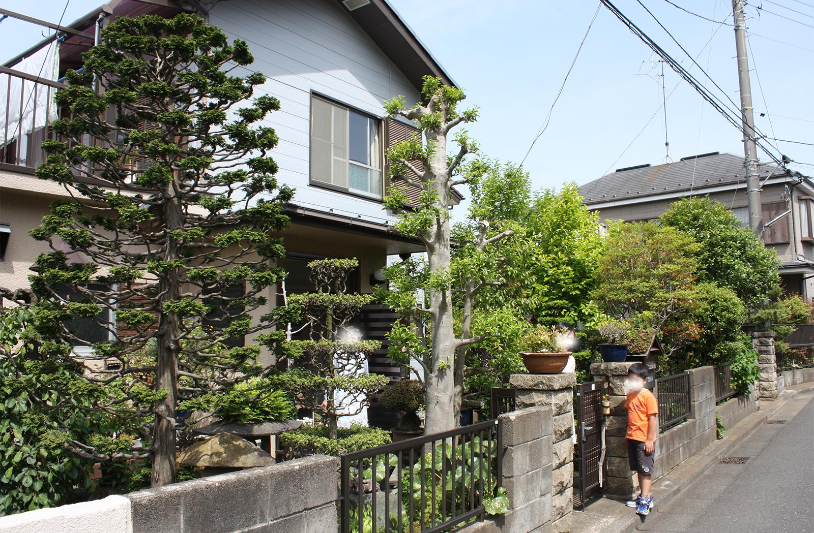 建て替え前の家